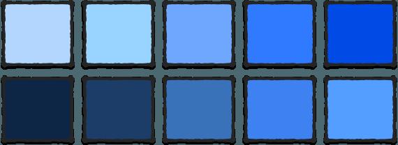 blue-color-variations